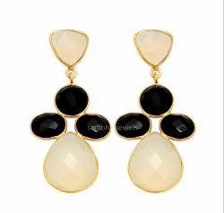 Gemstone Silver Earring