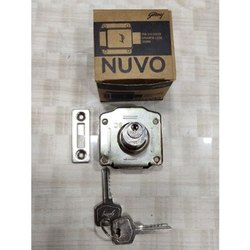 Stainless Steel 25 mm Godrej Pin Cylindrical Drawer Lock