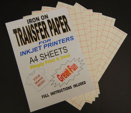 photograph regarding Printable Iron on Transfer known as A4 Inkjet Iron Upon T Blouse Shift Paper.(for Gentle Materials)