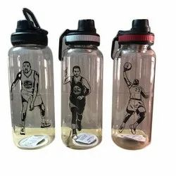 Glass Transparent Printed Water Bottle, Capacity: 1 Liter
