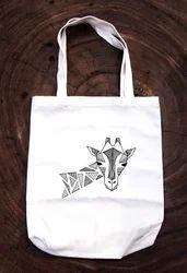 Printed Cotton Bag With Self Handle