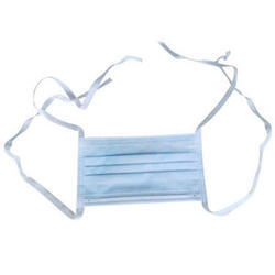 Blue Non Woven 2 Ply Tie On Surgical Face Mask