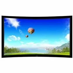 Liberty Curved Fixed Frame Screen HD Matte White