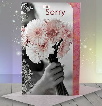 I am sorry flower card at rs 199 piece greeting cards id i am sorry flower card m4hsunfo