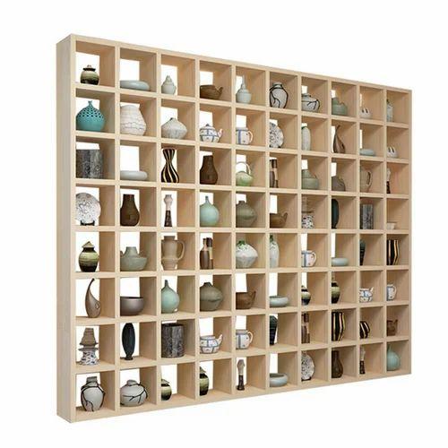 Floating Wall Shelves Modern Simple Solid Wood 80 Grid