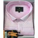 B Plus Cotton Men Pink Shirt