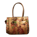 Leather Ladies Embroidered Purse