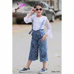 Girl Kids Culottes With Top, 24-34