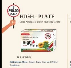 Carica Papaya Leaf Extract with Giloy Tablets, Packaging Type: Box