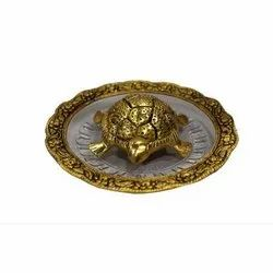 AJN-99 Antique Brass Turtle With Tray Set