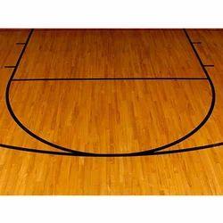 Wooden Brown Sports Laminate Flooring, Laminate Basketball Flooring