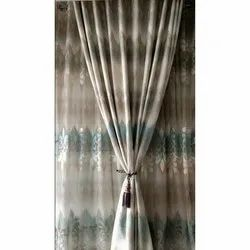 Polyester, Cotton Printed Designer Curtain, Length: 7 Feet