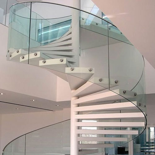 Glass Bend Glass Staircase Railing