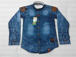 Denim Half Shirt