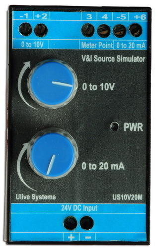 METER MILLIAMP CURRENT VOLT GENERATOR 4-20 MA 0-10 ~ PLC input simulator