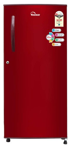 Burgundy Red 1 Star Westway 190 Liter Single Door Refrigerator (WEL 1901), Top Freezer
