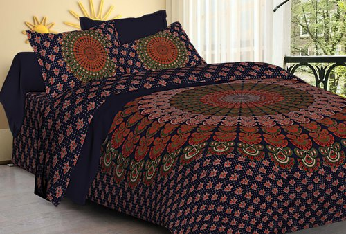 Mandala Print Cotton Bed Sheet
