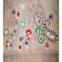 160 Cm Grisha Hand Embroidery Wool Scarves
