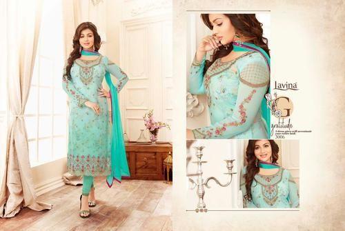 f6b931c4a9 Georgette Designer Fabric Semi Stitched Salwar Kameez, Rs 1340 ...