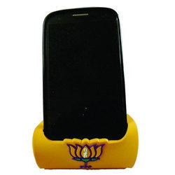 Yellow Rubber Mobile Stand, Size: Medium