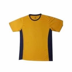 Plain Polo Neck Mens Round Neck Cotton T Shirts, Packaging Type: Packet, Size: S-XXL