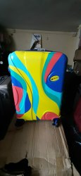 fiber suitcase trolley