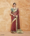 Marvelous Silk Blend Embroidered Party Wear Saree