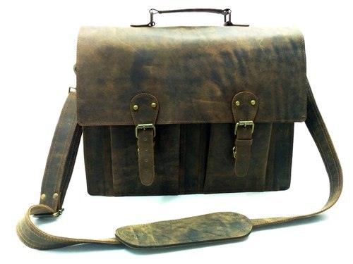 Buffalo Leather Briefcase Bag