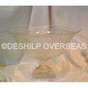 Deshilp Overseas Clear Glass Pillar Bowls, Freezer Safe: Yes, Size: Height = 17 Cm = Dia 20x27 Cm