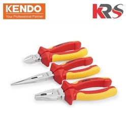 KENDO 3 Pcs Insulated VDE Plier Set For Cutting