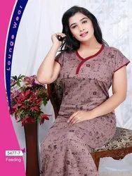 Half Sleeves 8 COLOUR Ladies Nightwear, Size: Regular
