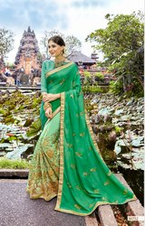 Immaculate Georgette Embroidered Party Wear Saree