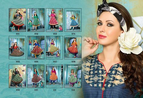 Pure Heavy 60 60 Cambric Quality Anarkali Printed Kurti