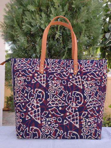 Cotton Hand Block Print Tote Bag