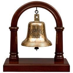 Wooden Desktop Brass Ship Bell