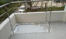Acrylic Glass Swing Oonjal for Home