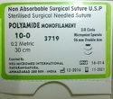 Nylon Non Absorbable Surgical Suture, Packaging Type: 12's Pack