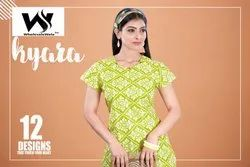 3/4th Sleeve Ethnic Style Cotton Kurtis, Age Group: Adults