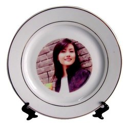 Sublimation Gold Rim   Plate