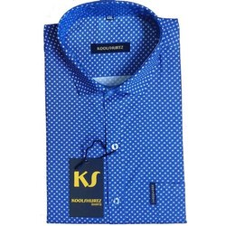 Koolshurtz Collar Neck Men Designer Half Sleeve Shirt