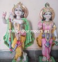 White Marble Statues Radha Krishna