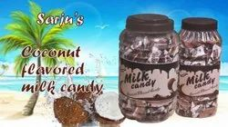 Oval Coconut Sugar Candy, Packaging Type: Plastic Jar