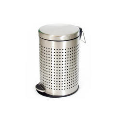 Stainless Steel Perforated Pedal Dust Bin