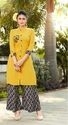 Rayon Straight Kurti With Plazzo