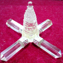 Tikam Gems Shree Yantra Chakra Crystal Quartz, Packaging Type: Box