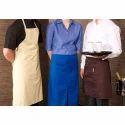 蓝色和黑色普通厨房围裙