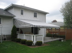 PVC Stripes Fixed Awning