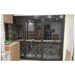 Aluminium Closet Doors Sliding Glass Door, For Home, Exterior