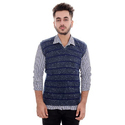 Blue Half Sleeve Sweater