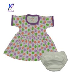 Casual Wear Baby Girl Frock With Pant